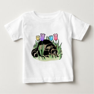 Racoon and Tulips Baby T-Shirt
