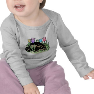 Racoon and Tulips T Shirt