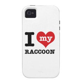 Racoon del amor iPhone 4/4S carcasa