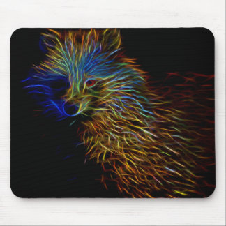 Racoon Dog Abstract Mouse Pad