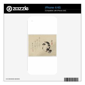Racoon-dog (Tanuki) by Shibata Zeshin Decal For The iPhone 4