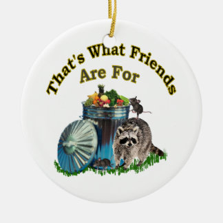 Racoon Friends Christmas Tree Ornaments