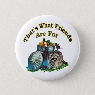 Racoon Friends Pinback Button