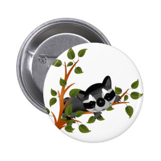Racoon in a Tree Pinback Button