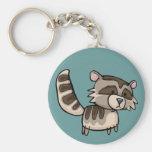 racoon llavero redondo tipo pin