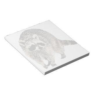 Racoon plain Notepad (2) sizes