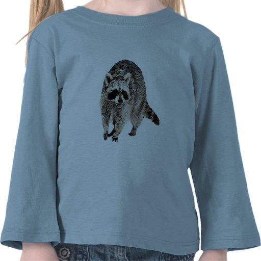 Racoon plain tee shirt