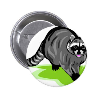 Racoon png pinback button
