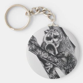 Racoon Products Basic Round Button Keychain