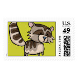 racoon timbre postal