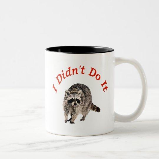 Racoon Two-Tone Coffee Mug