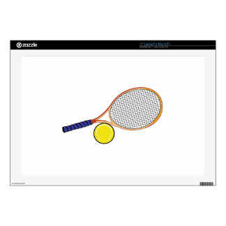 "Racquet and Ball Decal For 17"" Laptop"