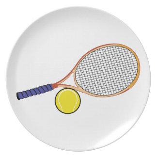 Racquet and Ball Dinner Plate