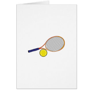 Racquet and Ball Greeting Card