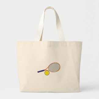 Racquet and Ball Large Tote Bag