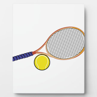 Racquet and Ball Photo Plaque