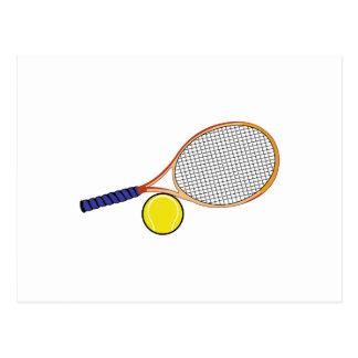 Racquet and Ball Postcard