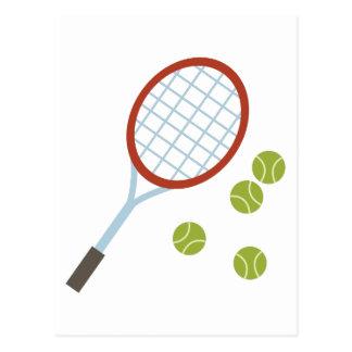 Racquet & Balls Postcard