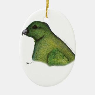 racquet tailed parrot, tony fernandes ceramic ornament