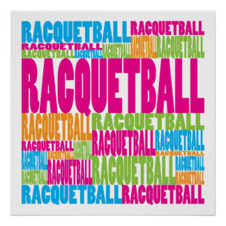 Racquetball colorido impresiones