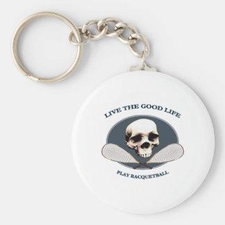 Racquetball de la buena vida llavero