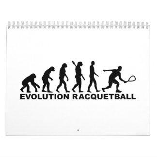 Racquetball de la evolución calendario