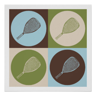 Racquetball del arte pop impresiones