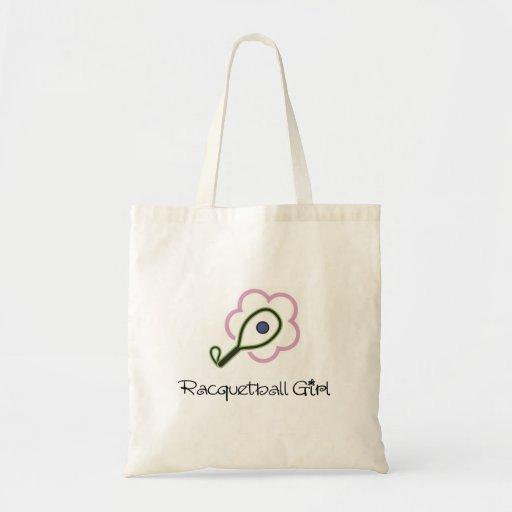 Racquetball Girl Canvas Bag