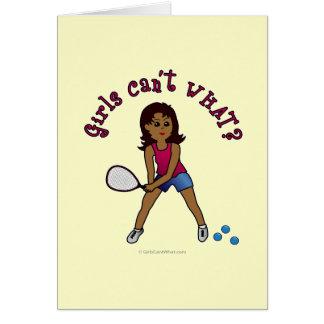 Racquetball Girl (Dark) Cards
