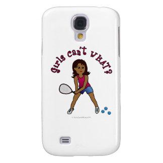 Racquetball Girl (Dark) Galaxy S4 Cases