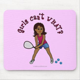 Racquetball Girl (Dark) Mouse Pad