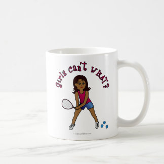 Racquetball Girl (Dark) Classic White Coffee Mug
