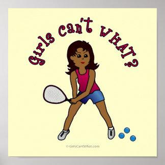 Racquetball Girl (Dark) Poster