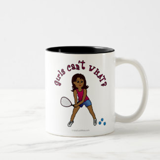 Racquetball Girl (Dark) Two-Tone Coffee Mug