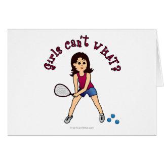Racquetball Girl (Light) Card
