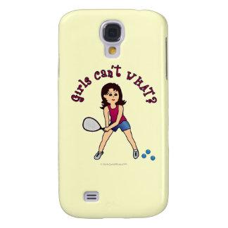 Racquetball Girl (Light) Samsung Galaxy S4 Cases