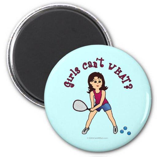 Racquetball Girl (Light) Magnet