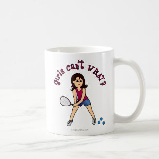 Racquetball Girl (Light) Classic White Coffee Mug