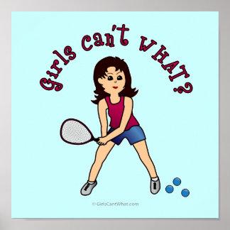 Racquetball Girl Light Print