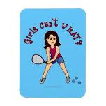 Racquetball Girl (Light) Rectangular Magnets