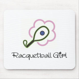 Racquetball Girl Mouse Pad