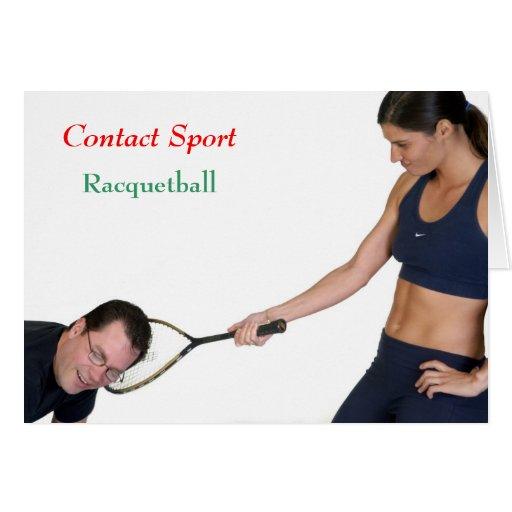 Racquetball Greeting Card