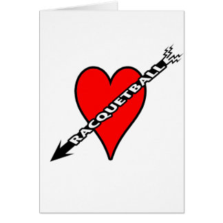 Racquetball Heart Greeting Cards