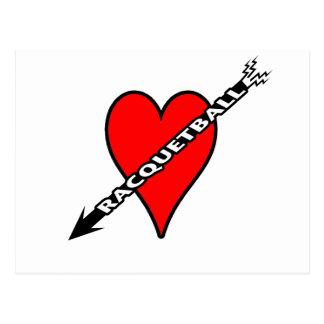 Racquetball Heart Post Card