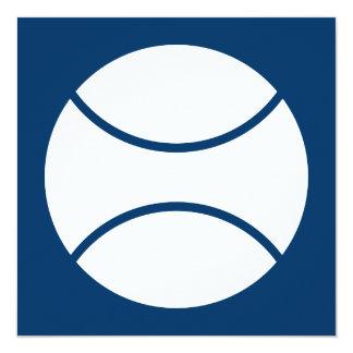 """racquetball 5.25"""" square invitation card"""