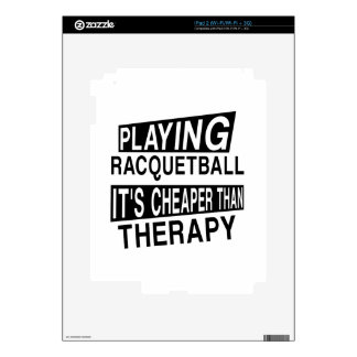 RACQUETBALL It Is Cheaper Than Therapy Decal For The iPad 2