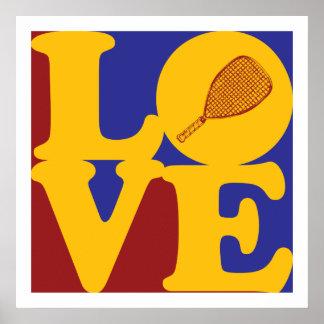 Racquetball Love Poster
