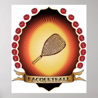 Racquetball Mandorla Poster