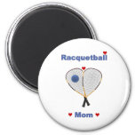 Racquetball Mom 2 Inch Round Magnet