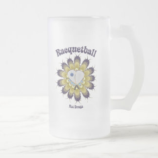 Racquetball Not Drugs Frosted Glass Beer Mug